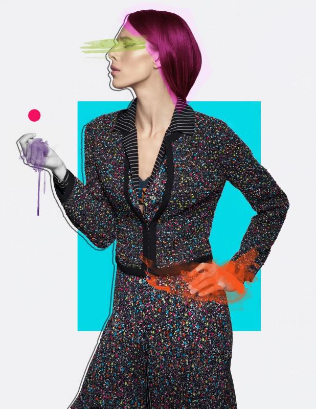 Tweed Jacket:  DianeVonFurstenberg  Shirt Dress: Diane VonFurstenberg