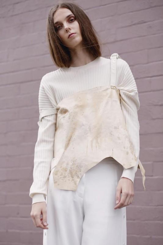 knit: Acne studios Top: Stephanie Schafer, Trousers: Acne studios