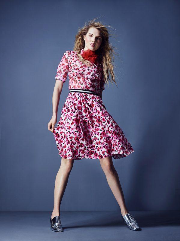 Blouse and Skirt: Kate Spade Shoe: Dorateymur Floral Brooch: Vintage