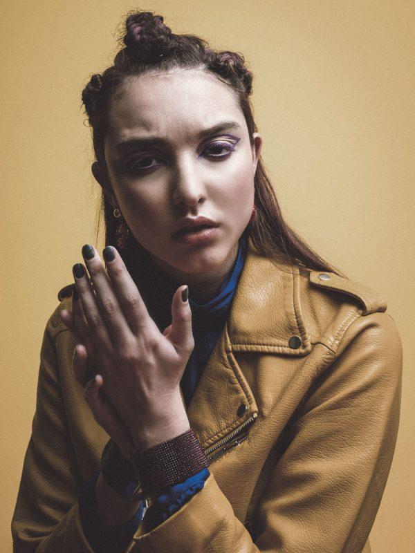 Jacket: Zara , dress: Michael Kors, ear cuff: Souksy London, bracelets: stylist own